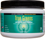 Life Force TrueGreens, over 30 concentrated organic & natural ingredients with potent antioxidants.
